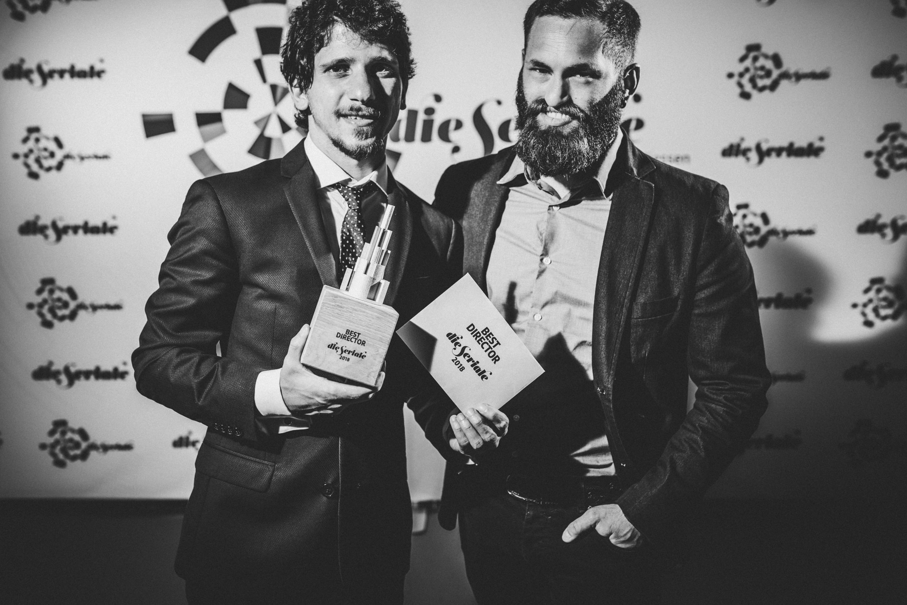 """BEST DIRECTOR - Riccardo Cannella, creator and director of """"Anachronisme"""" & Cristiano Bolla, first assistant director - from Italy. 