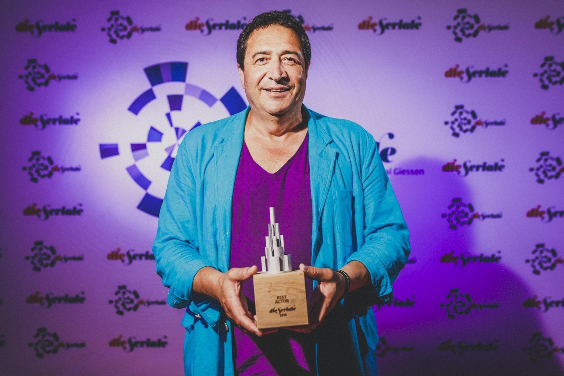 "BEST ACTOR - Burak Yüceil, executive producer of ""Kanaga"", from Turkey, accepted the award on behalf of Mehmet Günsür . | Photo by Christoforos Mechanezidis"