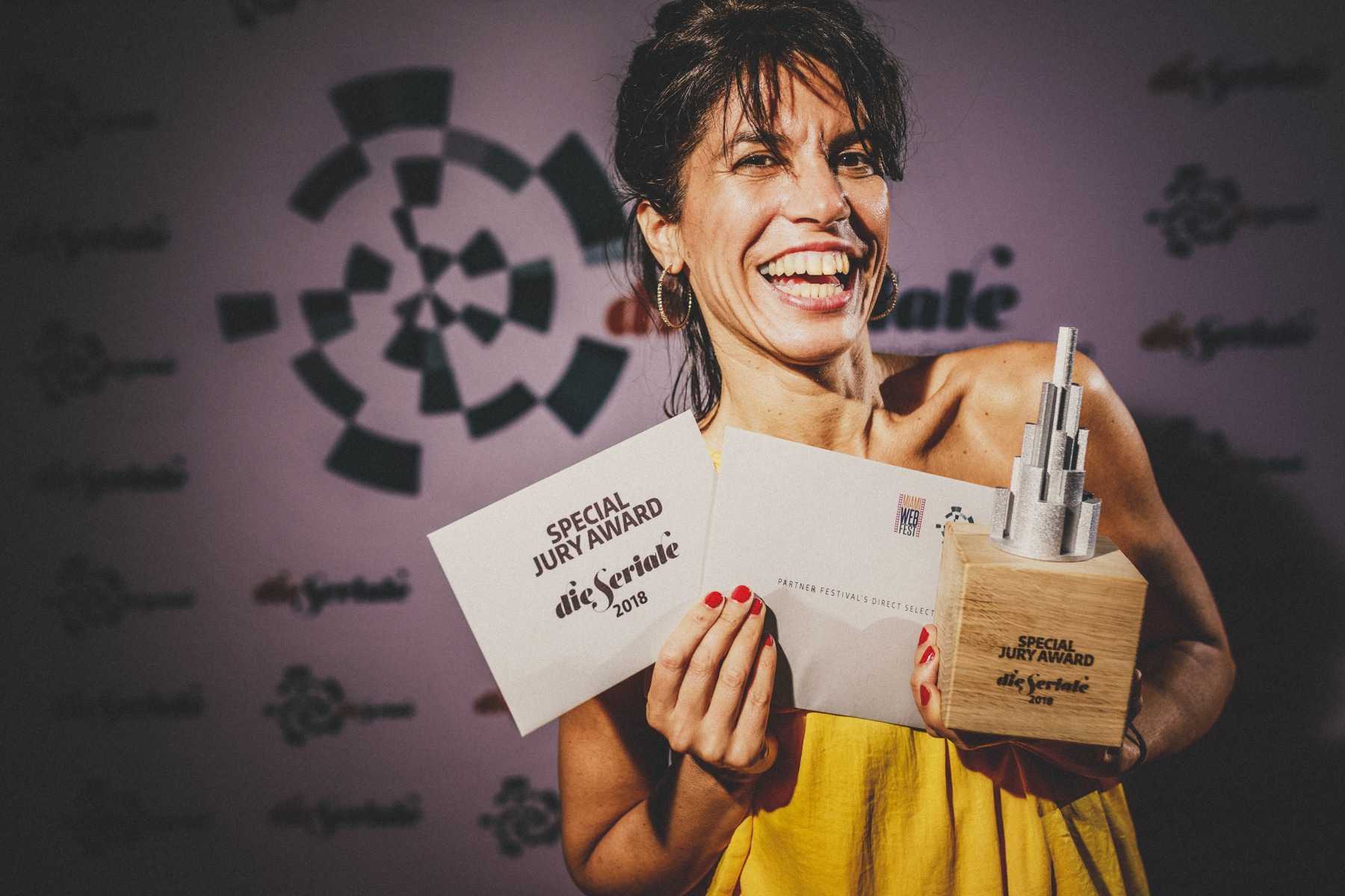 """SPECIAL JURY AWARD - Gisela Benenzon, creator and director of """"I'm Ander"""" from Buenos Aires, Argentina. 