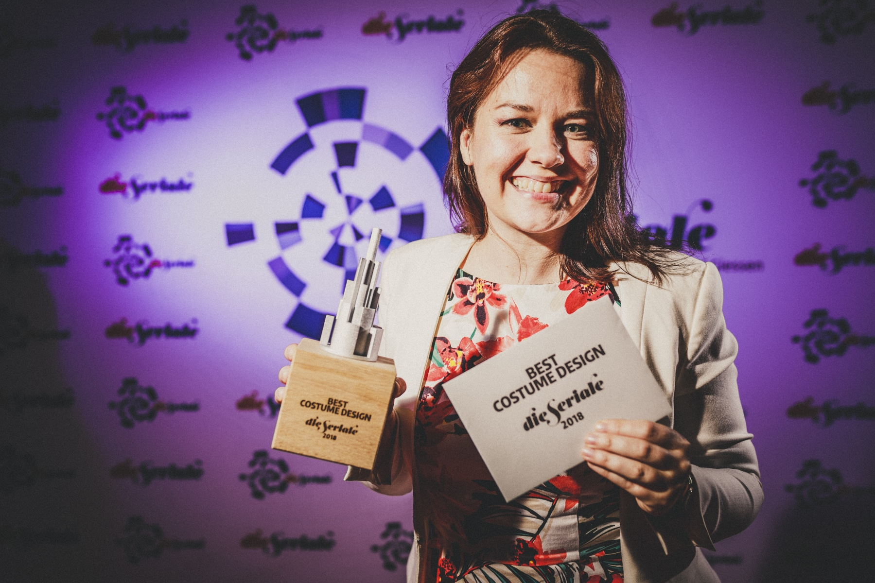 """BEST COSTUME DESIGN - Kate Madison, creator, director & producer of """"Ren: The Girl with the Mark"""", from the UK, accepted the award on behalf of Miriam Spring Davies. 